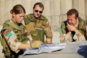 Norske soldater fra ISAF-styrken pΠpatrulje i Kabul Norwegian ISAF-soldiers on patrol in Kabul